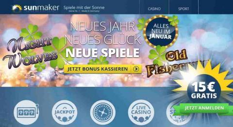 Sunmaker / Merkur Online Casino Spiele