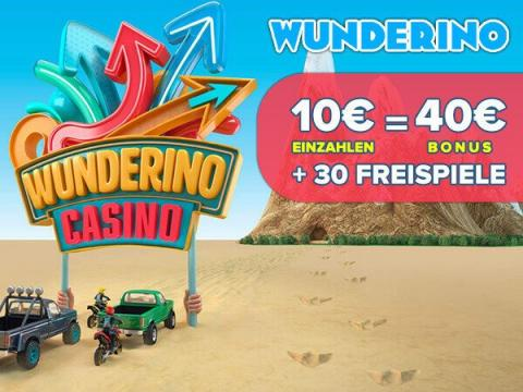 Online Casino Wunderino Neukundenbonus