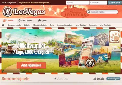LeoVegas Online Casino Spielbewrtungen