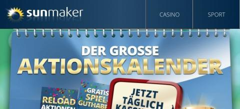 Sunmaker / Merkur Online Casino Aktionskalender