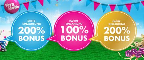 Vera und John Online Casino Bonus